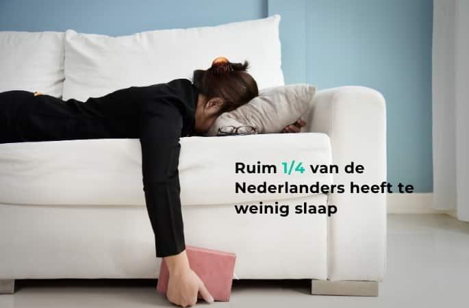 14 van Nederlanders heeft te weinig slaap
