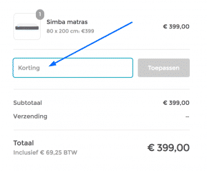 Simba Matras Kortingscode
