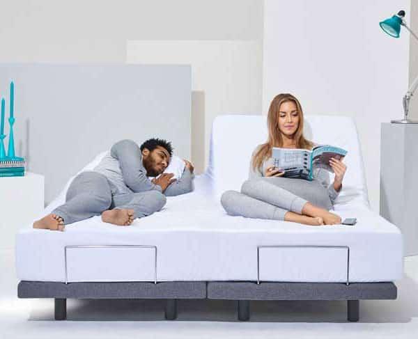 verstelbaar bed 2 matrassen