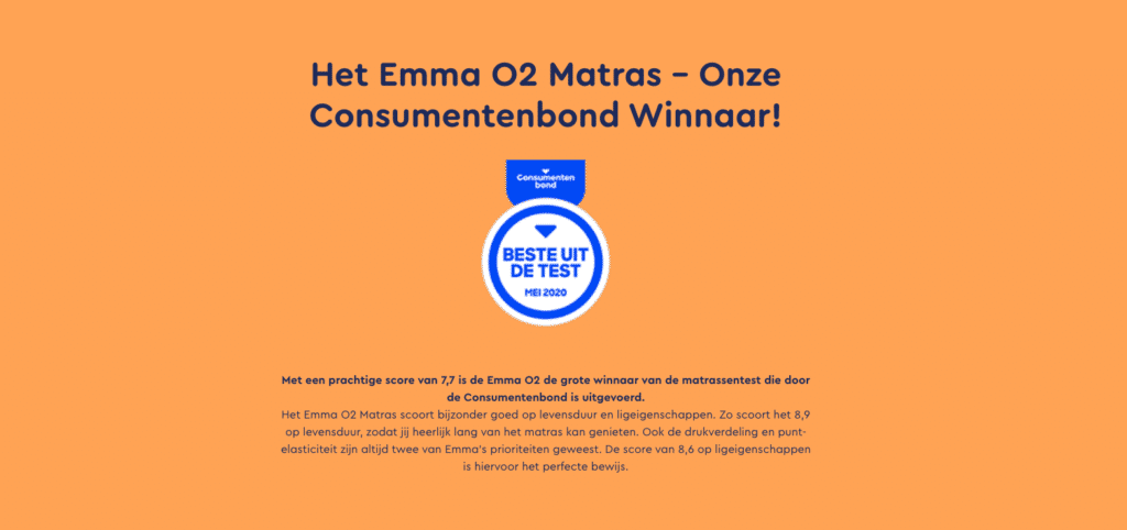 Emma O2 matras beste uit de test