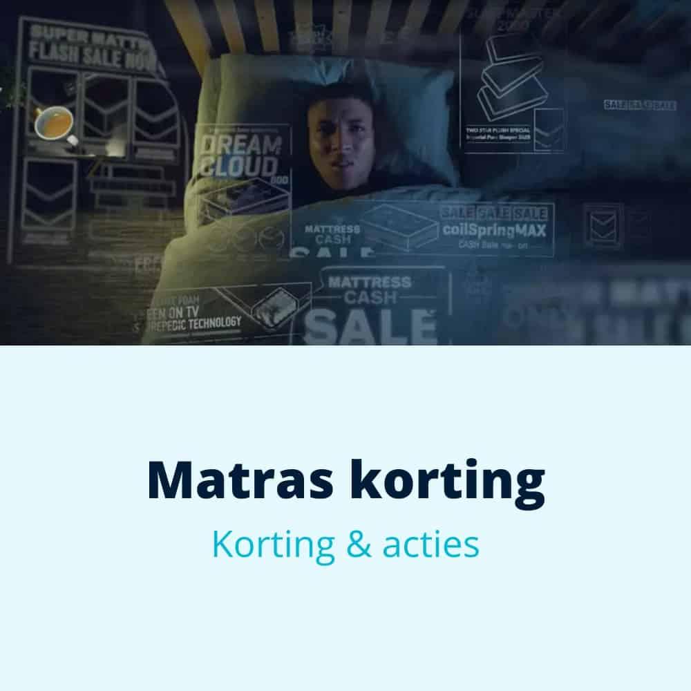 matras korting acties