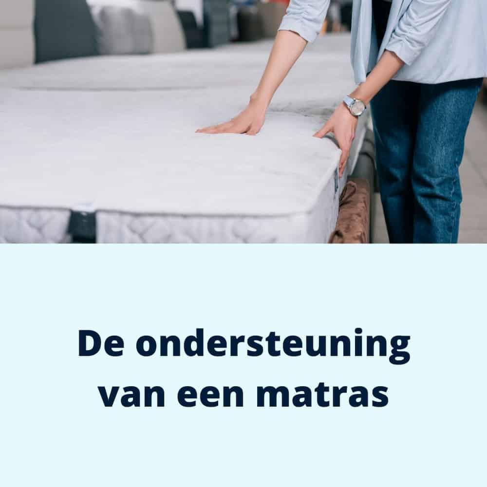 ondersteuning van een matras