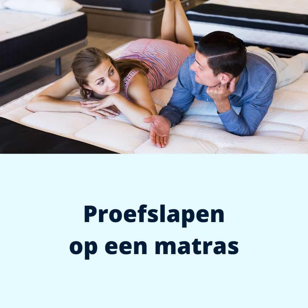 proefslapen op een matras
